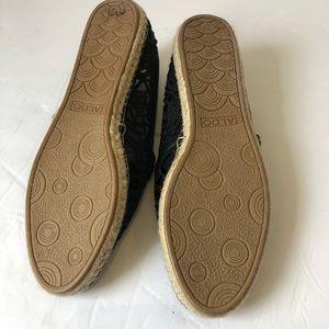 Aldo Shoes - Aldo Black Lace Espadrilles Flats